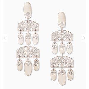 HP! Kendra Scott Stunning Earrings Silver Filigree